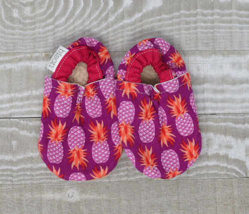 Pineapple Bison Booties 6-12 months