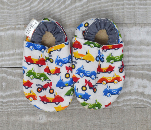 Race Cars Bison Booties 18-24 months