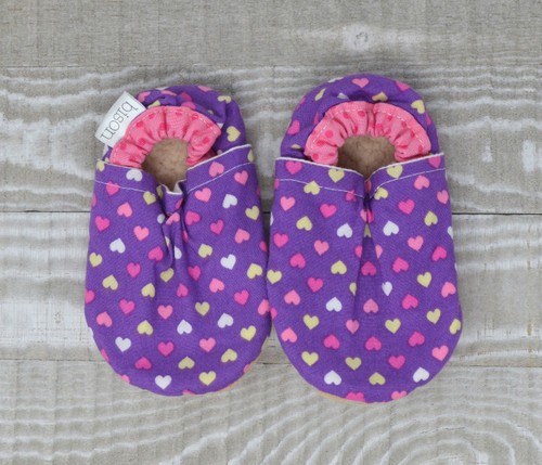 Lilac Love Bison Booties 0-6 months