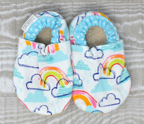 Rainbow Bison Booties 12-18 months