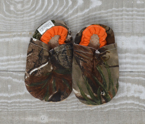 Camouflage Bison Booties 12-18 months