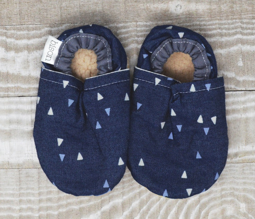 North Denim Bison Booties 0-6 months