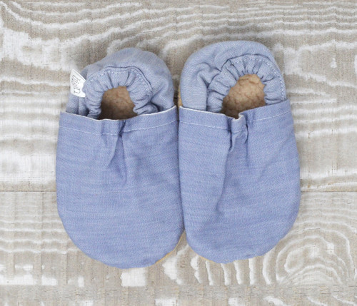 Chambray Denim Bison Booties 18-24 months