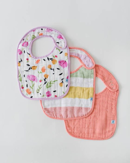 Cabana Stripe Classic 3 Bib Set Cotton Muslin