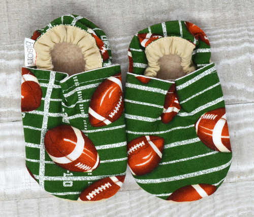 Touchdown Football Bison Booties 6-12 months
