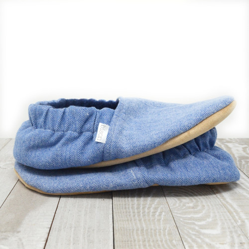Flurry Flannel Bison Booties Child Slippers