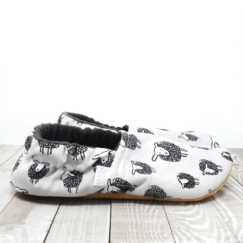 Sheep Bison Booties Slippers
