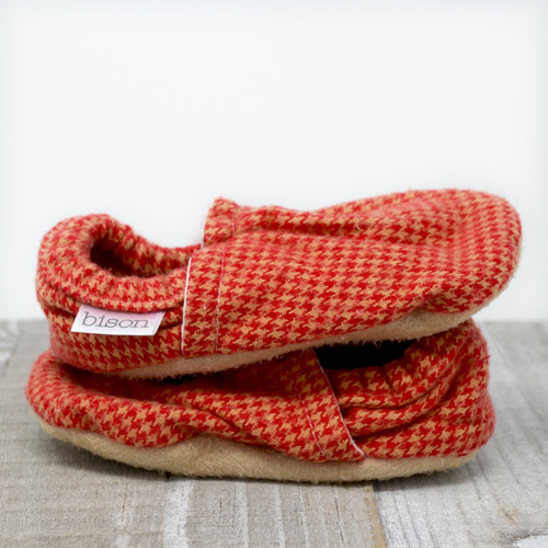 Yellowstone Flannel Bison Booties 18-24 months
