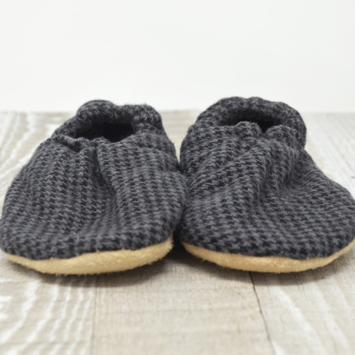 Fossil Flannel Bison Booties 12-18 months