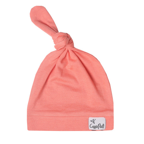 Stella Top Knot Hat Copper Pearl