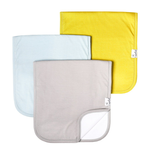 Stone Burp Cloth 3 Pack Set Copper Pearl
