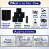 Acoustic Audio AA5102 Bluetooth 5.1 Speaker System with Optical Input and 5 Extension Cables