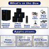 Acoustic Audio AA5102 Bluetooth 5.1 Speaker System with Optical Input and 2 Extension Cables
