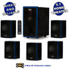 Acoustic Audio AA5102 Bluetooth 5.1 Speaker System with 2 Extension Cables Home Theater