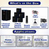 Acoustic Audio AA5102 Bluetooth 5.1 Speaker System with 5 Extension Cables Home Theater