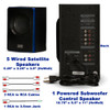 Acoustic Audio AA5102 Bluetooth Powered 5.1 Speaker System Home Theater Surround Sound