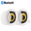 Acoustic Audio HD-5 Bluetooth Flush Mount In Ceiling Powered 2-Way Speaker Pair
