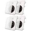 "Acoustic Audio MT6 In Wall 6.5"" Speaker 2 Pair Pack 2 Way Home Theater 1000 Watt MT6-2PR"