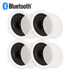 "Theater Solutions TS80C Bluetooth 2-Way 8"" In Ceiling Powered 4 Speaker Set Flush Mount"