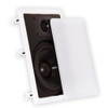 "Theater Solutions CS8W Bluetooth 2-Way In Wall 8"" Powered 4 Speaker Set Flush Mount"