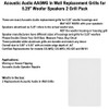 """AA5WG Replacement In Wall Grills for 5.25"""" Acoustic Audio Woofer Speakers 2 Grill Pack"""