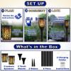 TT100 Fully Wireless Rechargeable Battery Bluetooth Tiki Speaker 2 Pack Lanterns
