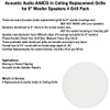 "AA8CG Replacement In Ceiling Grills for 8"" Acoustic Audio Woofer Speakers 4 Grill Pack"