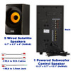 AA5170 Bluetooth 5.1 Speaker System Home Theater with FM Tuner