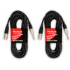 2M25XTRM Pack of 2 Male XLR to Male TRS Audio Cable DJ Studio