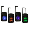 """PRTY122 Battery Powered 12"""" Bluetooth Speaker with LED Display and Wireless Mic"""
