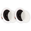 TS50C Flush Mount Speakers 2-Way In Ceiling Surround Sound Home Theater Pair