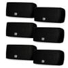 AA32CB Mountable Indoor Speakers Black Bookshelf 3 Pair Pack
