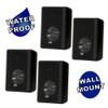 Acoustic Audio 151B Indoor Outdoor 2 Way Speakers 1200 Watt Black 2 Pair Pack 151B-2Pr