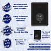 Acoustic Audio 151B Indoor Outdoor 2 Way Speakers 2400 Watt Black 4 Pair Pack 151B-4Pr