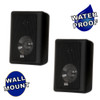 Acoustic Audio 151B Indoor Outdoor 2 Way Speakers 600 Watt Black Pair