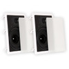 """TS80W Flush Mount In Wall Speakers with 8"""" Woofers Home Theater Pair"""