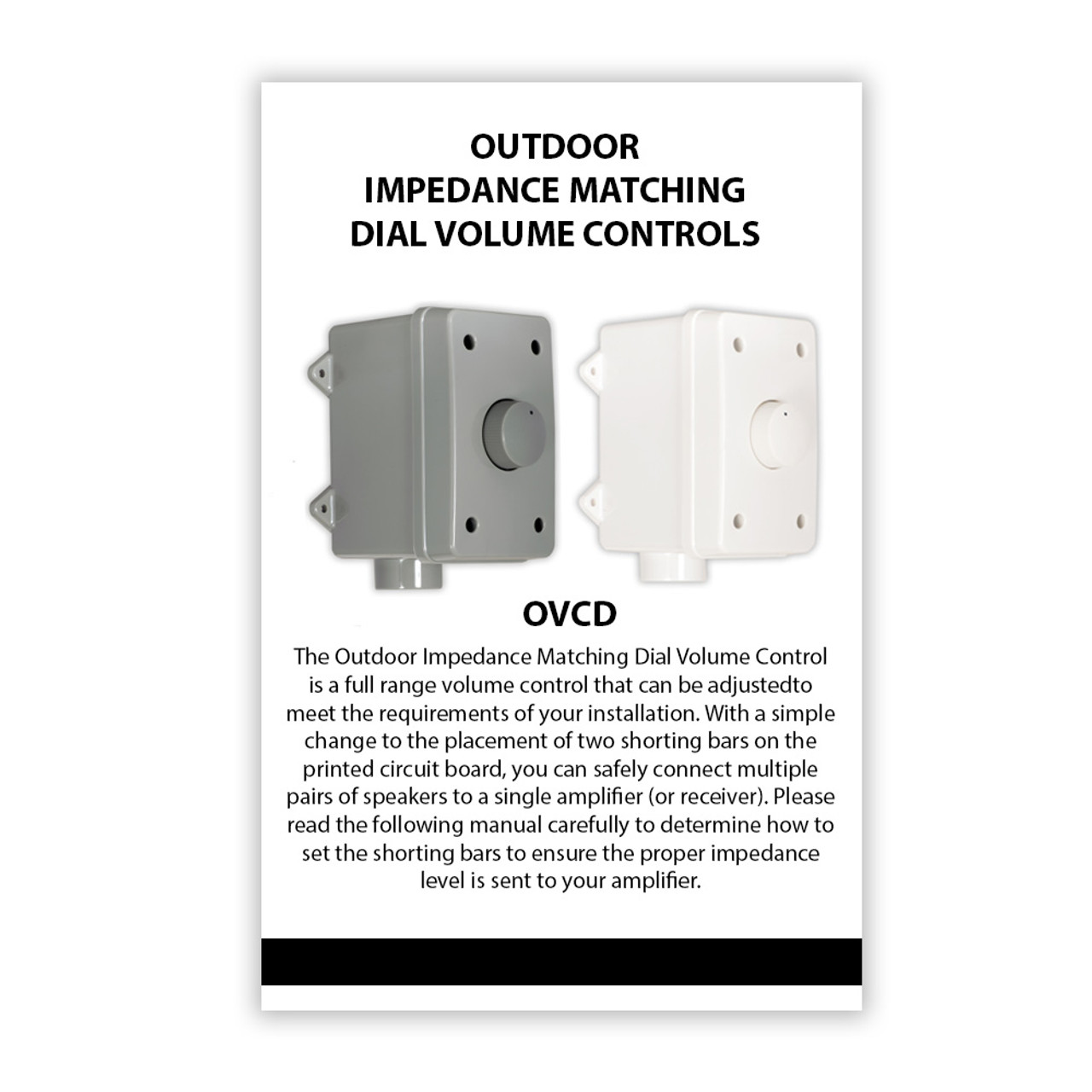 Acoustic Audio AAOVCD-G Outdoor Weatherproof Speaker Dial Volume Controls  Impedance Matching 3 Pack AAOVCD-G-3S