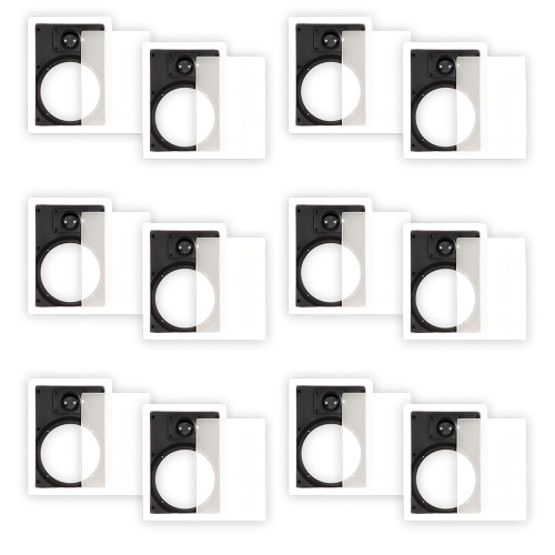 65WFG Frames and Grills for 6.5 Inch In Wall Speakers 6 Pair Pack