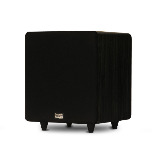 """PSW400-10 Home Theater Powered 10"""" LFE Subwoofer Black Front Firing Sub"""