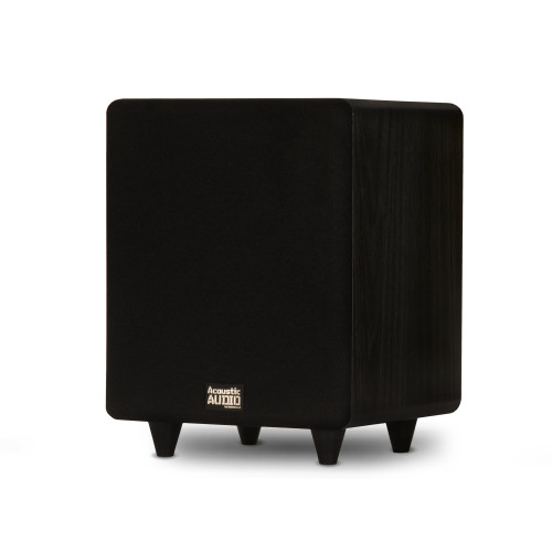 """PSW300-8 Home Theater Powered 8"""" LFE Subwoofer Black Front Firing Sub"""