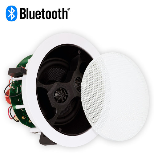 "Theater Solutions TS650S Bluetooth 6.5"" In Ceiling Powered Dual Stereo Speaker Flush Mount"