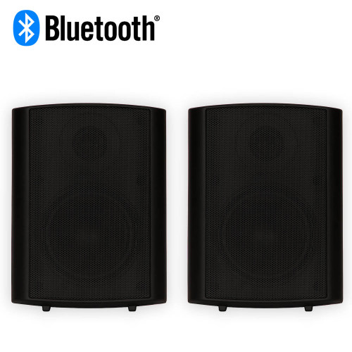 Theater Solutions TS425ODB Bluetooth Indoor or Outdoor Powered Speaker Pair Black