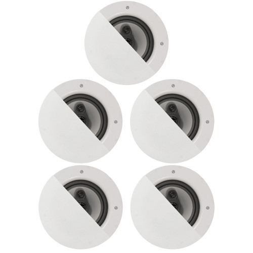 """CSic64 Frameless In Ceiling Speakers with 6.5"""" Woofers 5 Pack"""