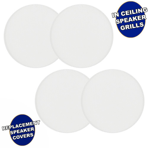 """AA5CG Replacement In Ceiling Grills for 5.25"""" Acoustic Audio Woofer Speakers 4 Grill Pack"""