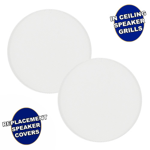 """AA5CG Replacement In Ceiling Grills for 5.25"""" Acoustic Audio Woofer Speakers 2 Grill Pack"""