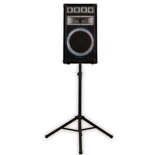 Technical Pro VRTX15 Passive DJ Speaker and Stand 1200 Watts PA Karaoke Band VRTX15ST