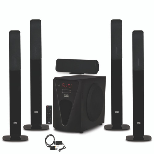 Acoustic Audio Bluetooth Tower 5.1 Speaker System w/ Optical Input & Powered Sub
