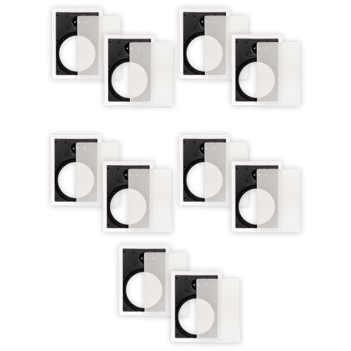 8WFG Frames and Grills for 8 Inch In Wall Speakers 5 Pair Pack