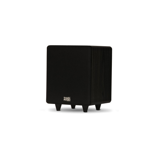 """PSW250-6 Home Theater Powered 6.5"""" LFE Subwoofer Black Front Firing Sub"""