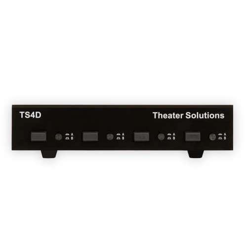 TS4D Dual Input 4 Zone Speaker Selector Box for 8 Speakers